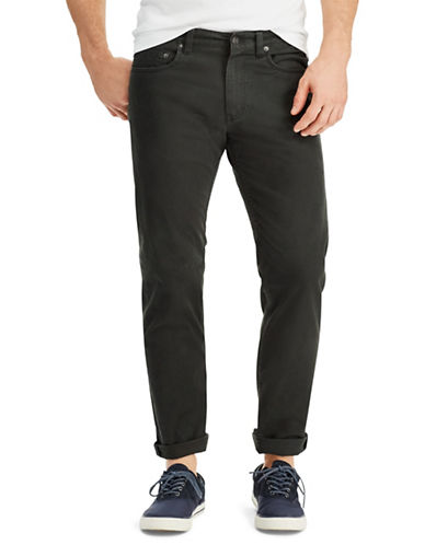 Chaps Straight-Fit Twill Pants-BLACK-38X32