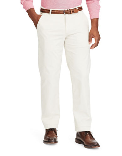Chaps Stretch Chino Pants-BEIGE-34X32