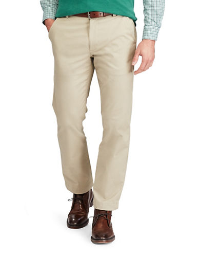 Chaps Stretch Chino Pants-BEIGE-38X32