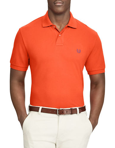 Chaps Stretch Mesh Polo-ORANGE-X-Large