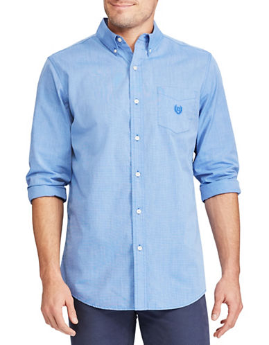 Chaps Easy-Care Shirt-BLUE-Small