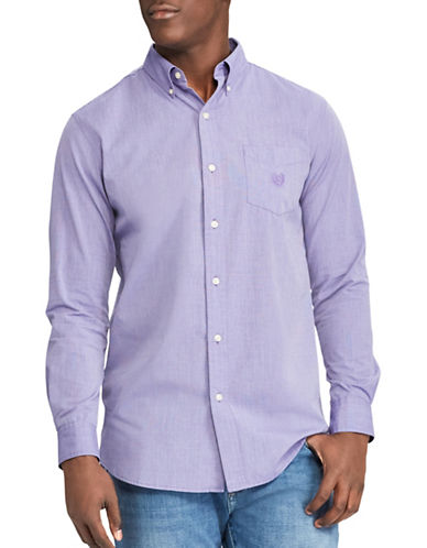 Chaps Long Sleeve Casual Button-Down Shirt-PURPLE-Small