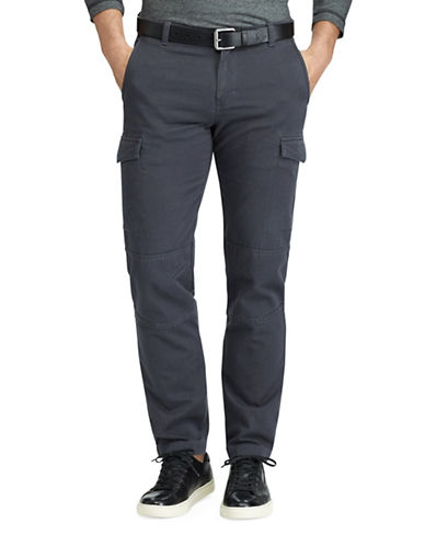 Chaps Cotton Twill Cargo Pants-GREY-38X32