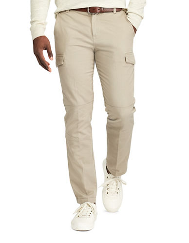 Chaps Cotton Twill Cargo Pants-BEIGE-38X32