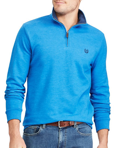 Chaps Mock Neck Pullover Sweater-BLUE-Medium