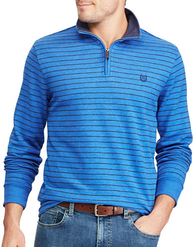 Chaps Striped Pullover Sweater-BLUE-Medium