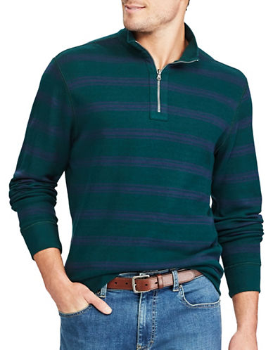 Chaps Big and Tall Reversible Mock Neck Pullover-GREEN-3X Tall