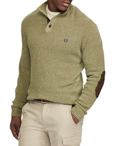 Chaps Mockneck Sweater-GREEN-2X Big