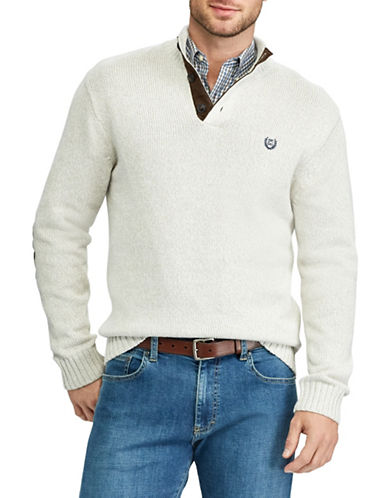 Chaps Mockneck Sweater-NATURAL-3X Big