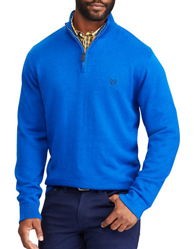 Chaps Big and Tall Jersey Pullover Sweater-BLUE-4X Big