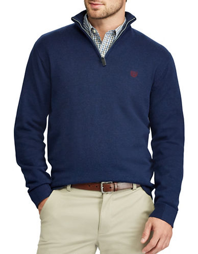 Chaps Big and Tall Jersey Pullover Sweater-NAVY-2X Tall