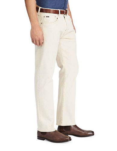 Polo Ralph Lauren Hampton Relaxed Straight Stretch Jeans-BEIGE-34X32