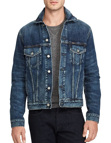 Polo Ralph Lauren Denim Trucker Jacket-BLUE-Large 89320144_BLUE_Large