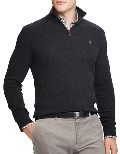 Polo Ralph Lauren Rib-Knit Half-Zip Sweater-DARK BLUE-X-Large