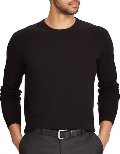 Polo Ralph Lauren Washable Cashmere Sweater-BLACK-Medium