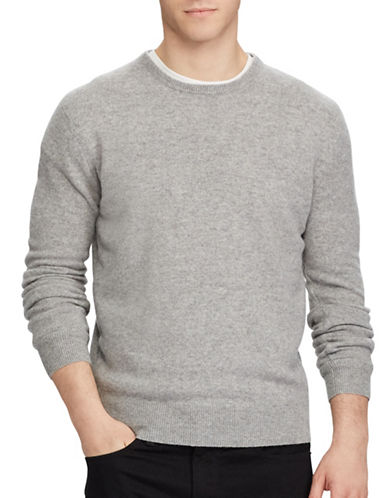 Polo Ralph Lauren Washable Cashmere Sweater-GREY-Small