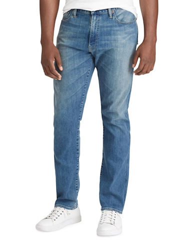 Polo Ralph Lauren Big and Tall Hampton Relaxed Straight Jeans-BLUE-42X36