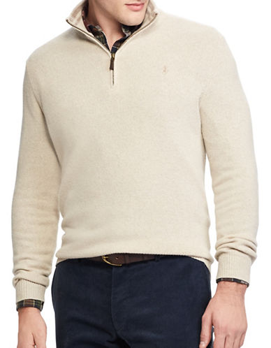 Polo Ralph Lauren Rib-Knit Half-Zip Sweater-BEIGE-Medium