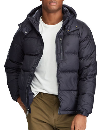 Polo Ralph Lauren Water-Repellent Down Jacket-NAVY-Medium