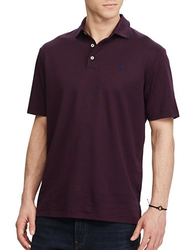 Polo Ralph Lauren Classic-Fit Striped Soft-Touch Cotton Polo-NAVY-4X Big