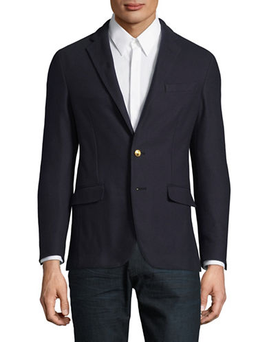 Polo Ralph Lauren Mesh Knit Blazer-NAVY-46 Regular