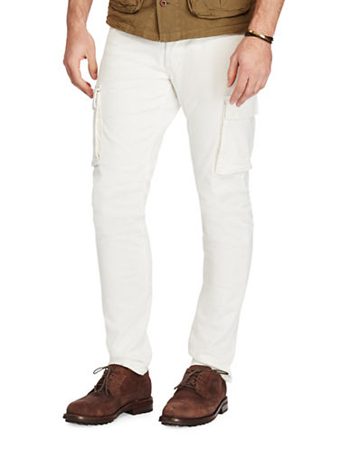 Polo Ralph Lauren Stretch Cargo Skinny Jeans-WHITE-36X30