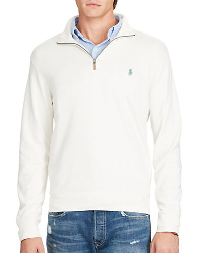 Polo Ralph Lauren Cotton Half-Zip Pullover-ANTIQUE CREAM-Large 88691555_ANTIQUE CREAM_Large