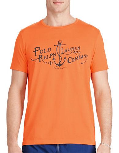 Polo Ralph Lauren Custom-Fit Cotton T-Shirt-RESORT ORANGE-XX-Large