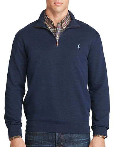 Polo Ralph Lauren Cotton-Blend Jersey Pullover-CRUISE NAVY-4X Tall