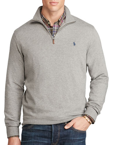 Polo Ralph Lauren Cotton-Blend Jersey Pullover-WINTER GREY-3X Tall