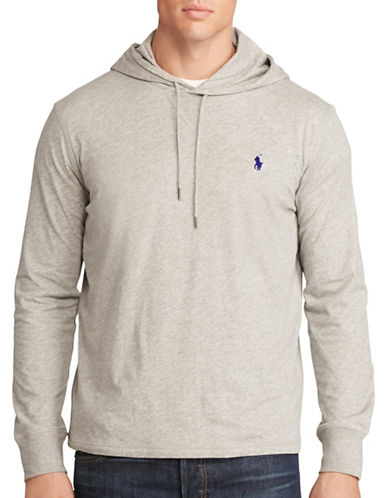 Polo Ralph Lauren Big and Tall Featherweight Pima Hoodie-ANDOVER HEATHER-5X Tall