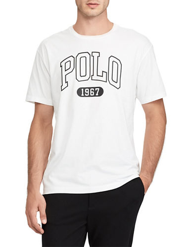 Polo Ralph Lauren Logo Short-Sleeve Cotton Tee-WHITE-Small 89816574_WHITE_Small