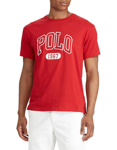 Polo Ralph Lauren Logo Short-Sleeve Cotton Tee-BRIGHT RED-Medium