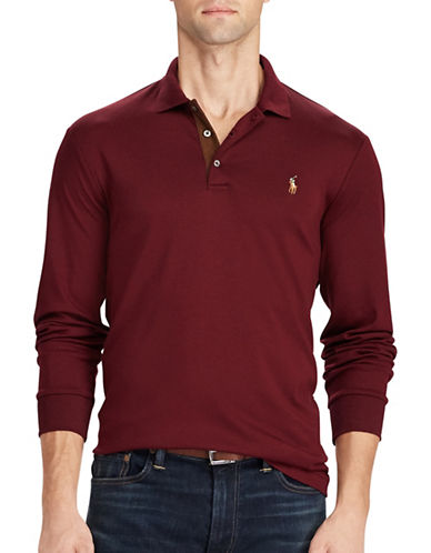 Polo Ralph Lauren Classic-Fit Soft-Touch Pima Cotton Polo-RED-Small