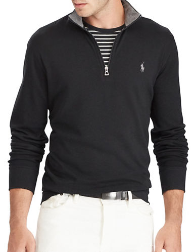 Polo Ralph Lauren Luxury Jersey Half-Zip Pullover-POLO BLACK-Medium