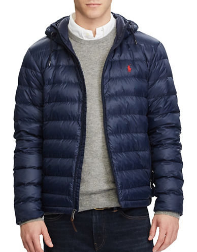 Polo Ralph Lauren Packable Hooded Down Jacket-BLUE-3X Tall