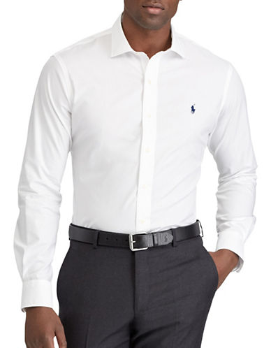 Polo Ralph Lauren Classic Fit Cotton Shirt-WHITE-4X Tall