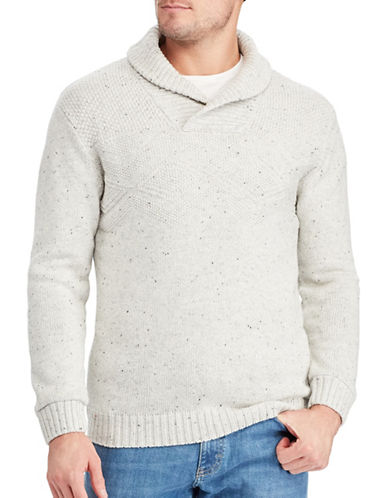 Chaps Shawl Collar Sweater-NATURAL-Small