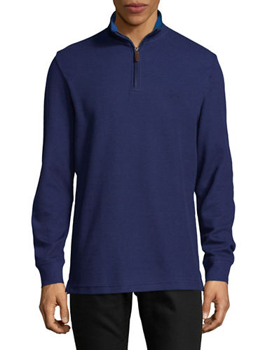 Chaps Half-Zip Pullover-BLUE-X-Large
