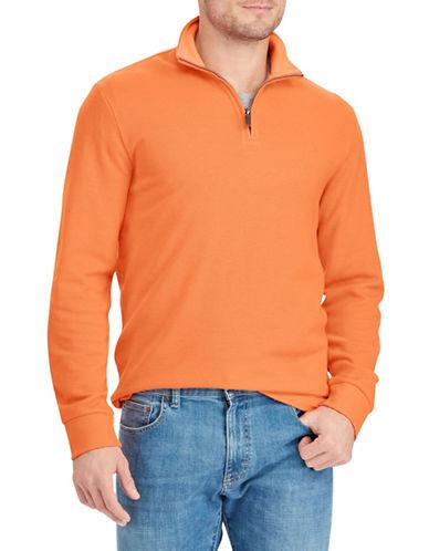 Chaps Quarter-Zip Pullover-ORANGE-X-Large