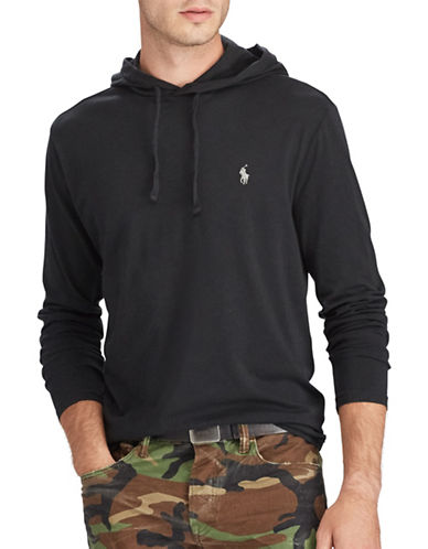 Polo Ralph Lauren Drawstring Cotton Jersey Hoodie-POLO BLACK-Medium