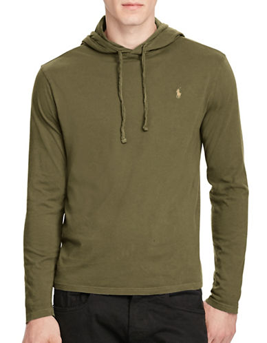 Polo Ralph Lauren Drawstring Cotton Jersey Hoodie-GREEN-XX-Large