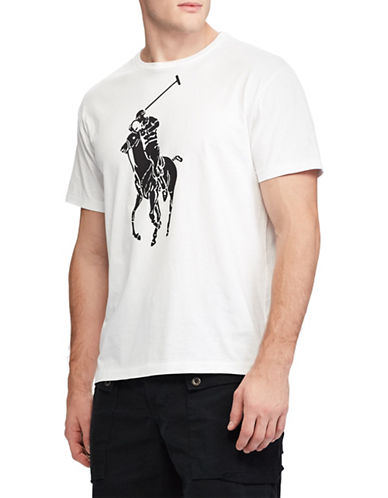 Polo Ralph Lauren Graphic Short-Sleeve Cotton Tee-WHITE-Large 89816587_WHITE_Large