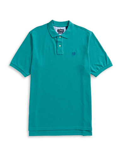 Chaps Big and Tall Short-Sleeve Cotton Polo-GREEN-Large Tall