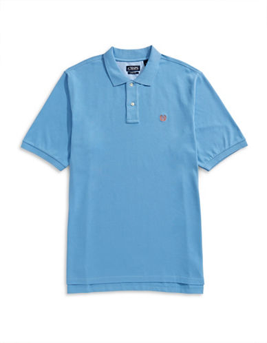 Chaps Big and Tall Short-Sleeve Cotton Polo-BLUE-1X Tall