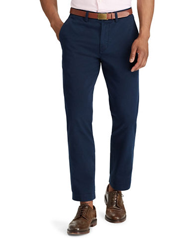Polo Ralph Lauren Classic-Fit Cotton Chino Pants-BLUE-40X30