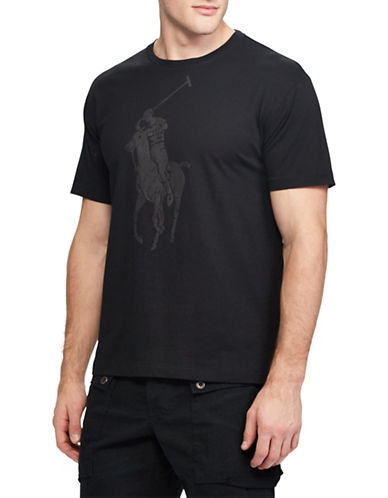 Polo Ralph Lauren Graphic Short-Sleeve Cotton Tee-BLACK-Medium 89816593_BLACK_Medium