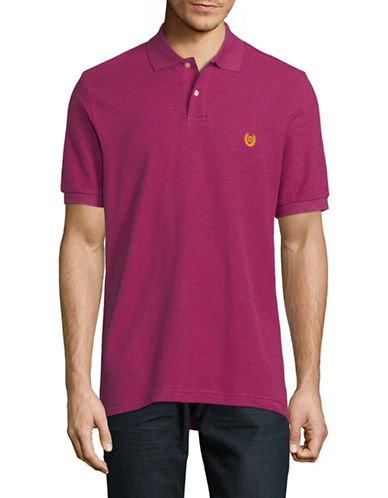 Chaps Cotton Pique-Iconic Polo-PINK-Large