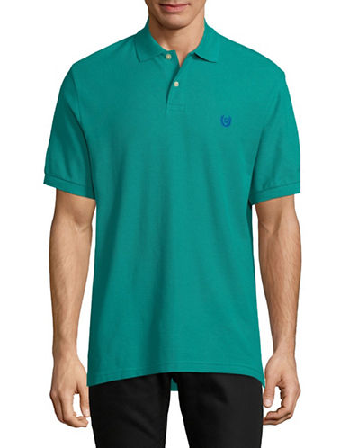 Chaps Short-Sleeve Cotton Polo-GREEN-Large