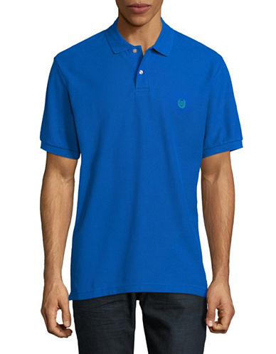 Chaps Short-Sleeve Cotton Polo-BLUE-X-Large